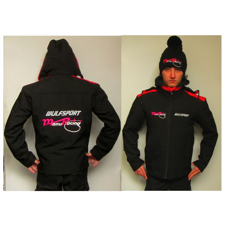 Veste padock softshell team Manuracing Wulfsport